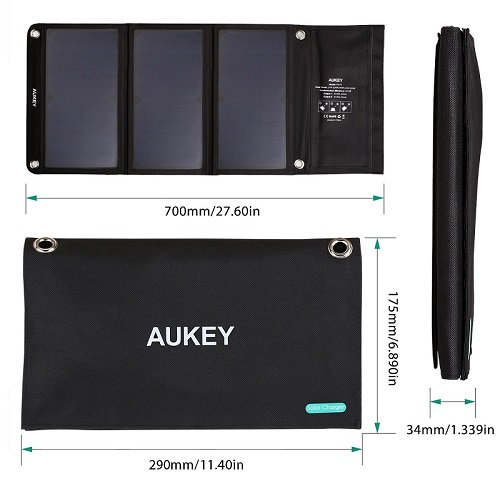 AUKEY PB-P4 Cargador Panel Solar 21W opiniones