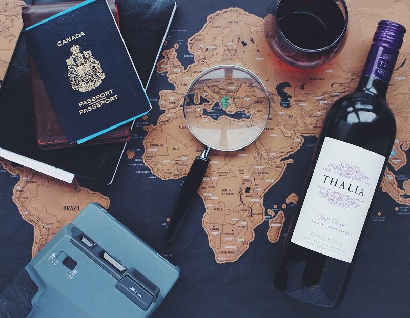 mapa rascar viajar
